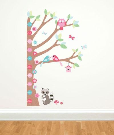 kinder messlatte baum wandtattoos babyshop. Black Bedroom Furniture Sets. Home Design Ideas